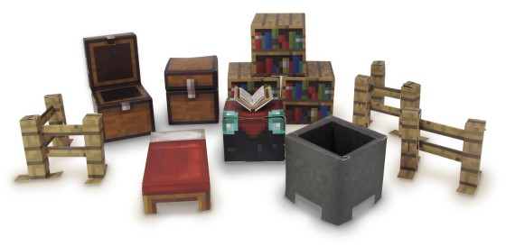 papercraft minecraft bibliothèque