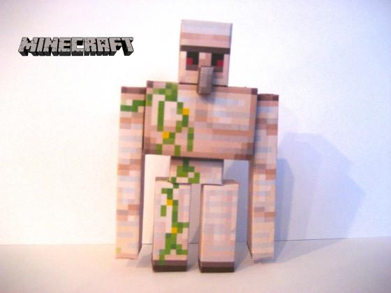 papercraft minecraft golem de fer