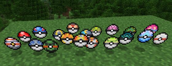 Pokéballs dans Pixelmon
