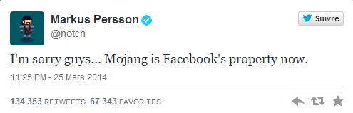 Facebook rachète Mojang twittermarkuspersson