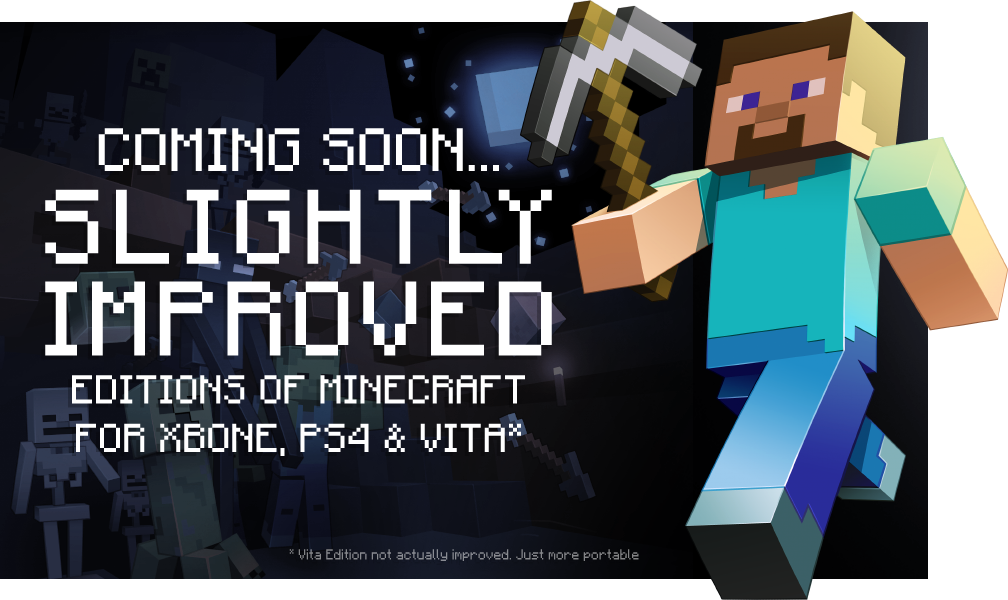 Minecraft sur Xbox One, PS4 et PS Vita : Très bientôt !