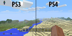 Comparaison old-gen / next-gen Minecraft console
