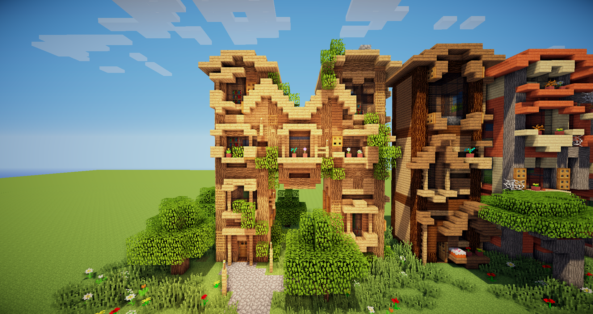 M i n e c r a f t build maison for Decoration maison minecraft
