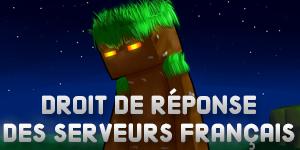 Droit de réponse : Serveurs Minecraft Français