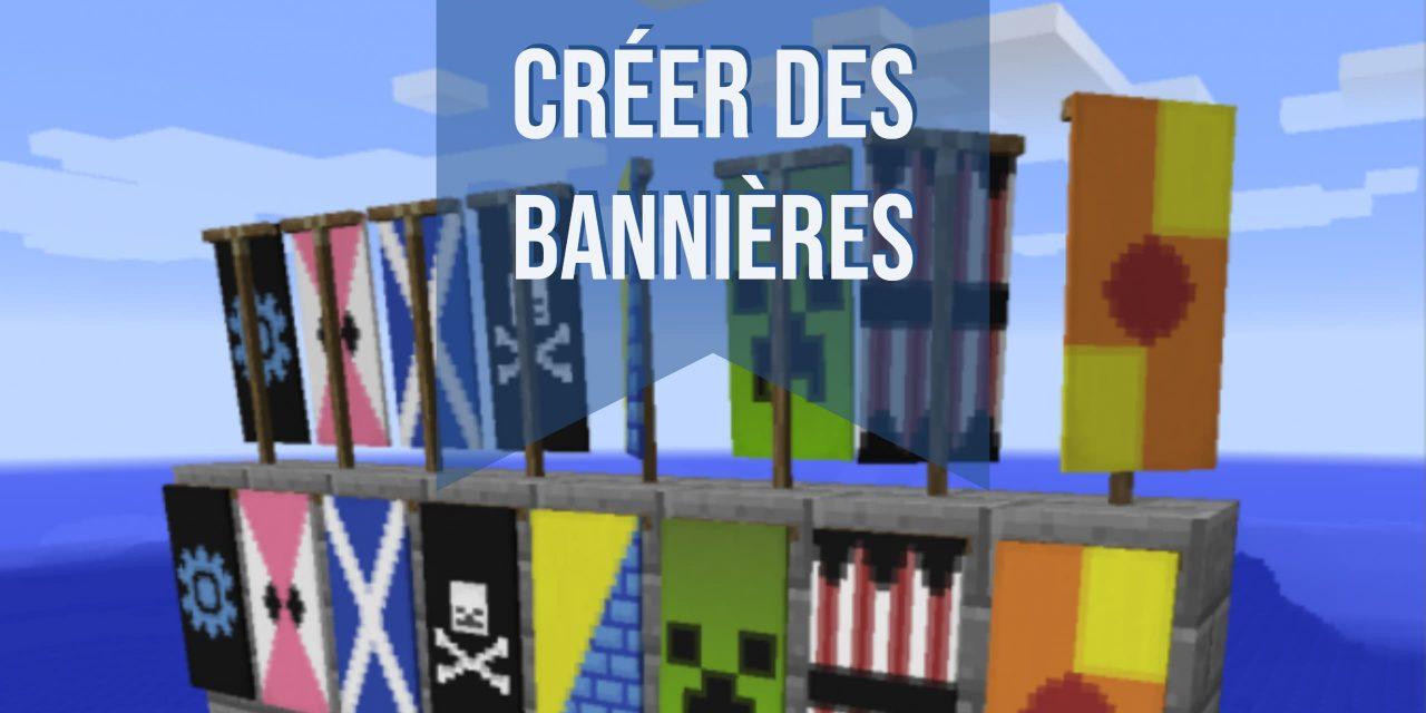Création de bannières et motifs dans Minecraft
