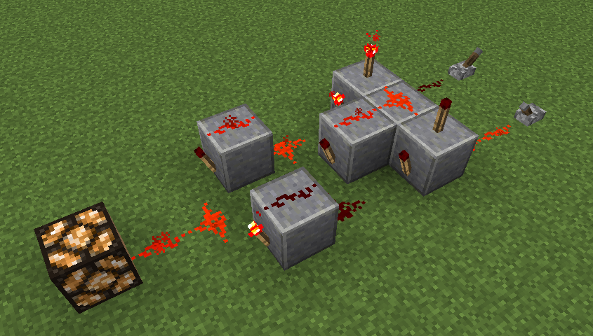 Les bases de la redstone for Porte xor minecraft