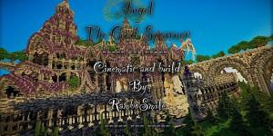 Angelius - The God Spawner est une impressionnante map de construction présentant un immense château coloré.