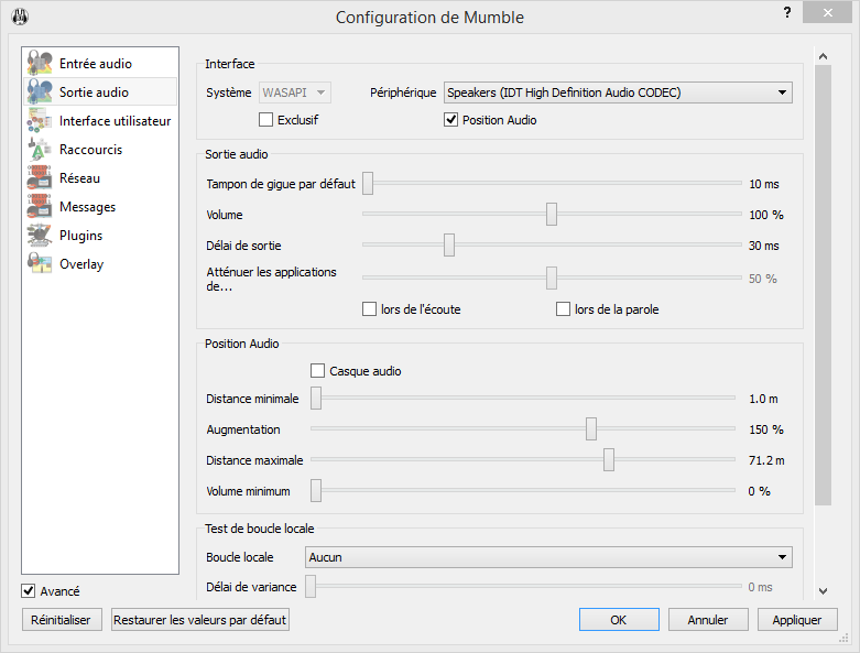 configuration mumble link