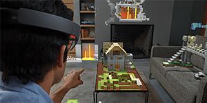 Minecraft en 3D Holographique