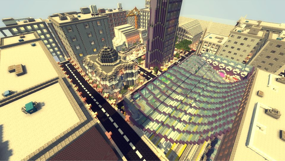 Across the time map aventure 1 8 for Ville su minecraft