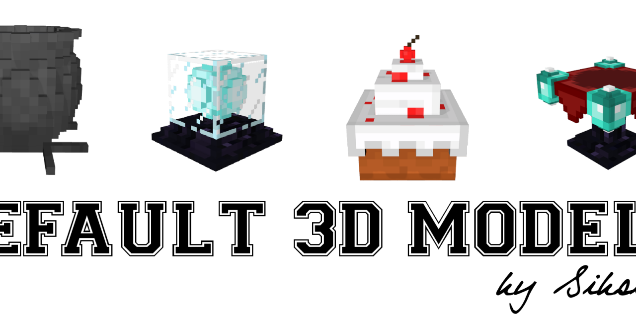 Default 3D Models [1.8.x]