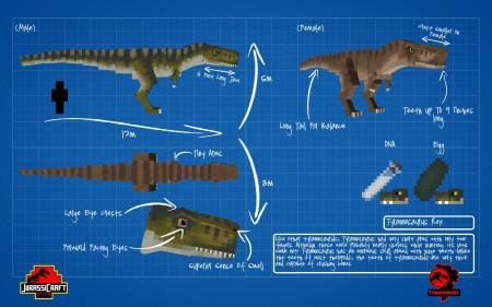 jurassicraft mod minecraft tyrannosaurus