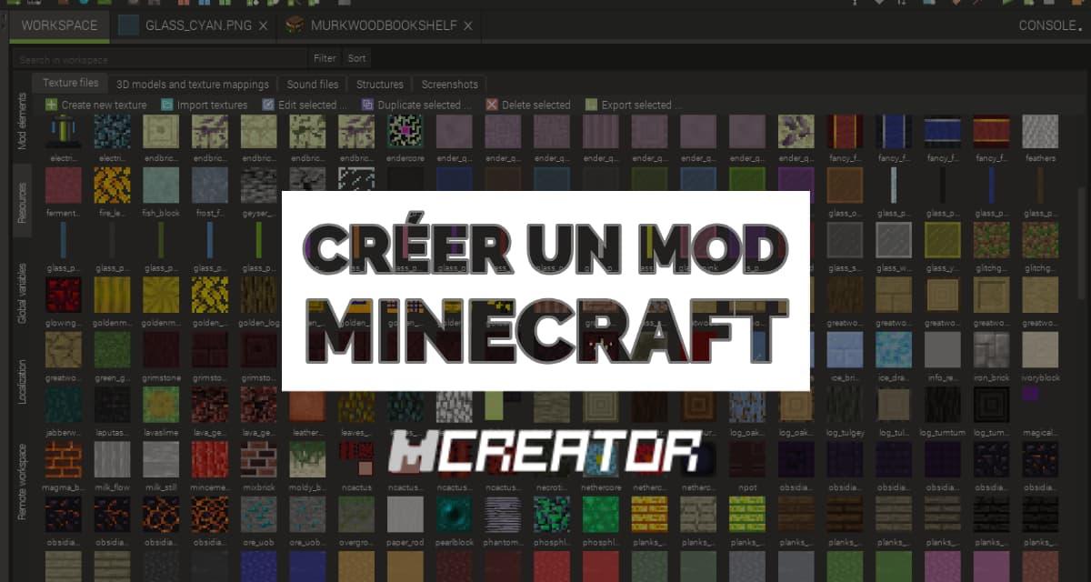 Créer un mod Minecraft avec Mcreator