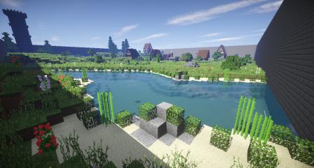 Le village, vu de la rivière