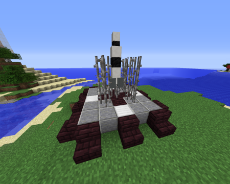 La fusée placée