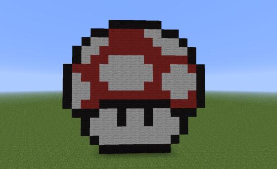 Le champignon, célèbre symbole du jeu Mario Bros