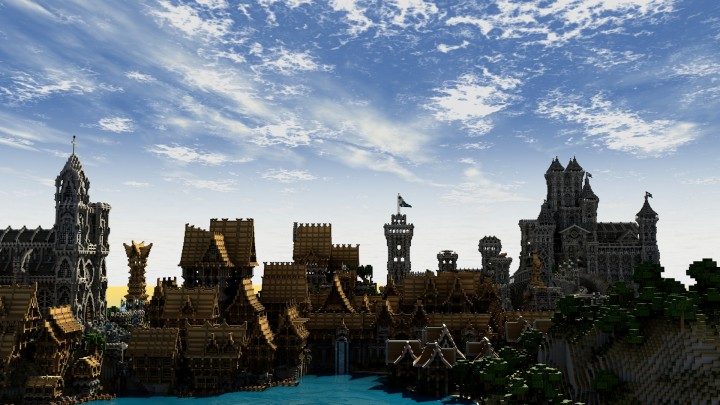 Style Anglais : Lothaven medieval city minecraft