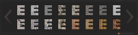 Choisissez la texture du texte du Textcraft