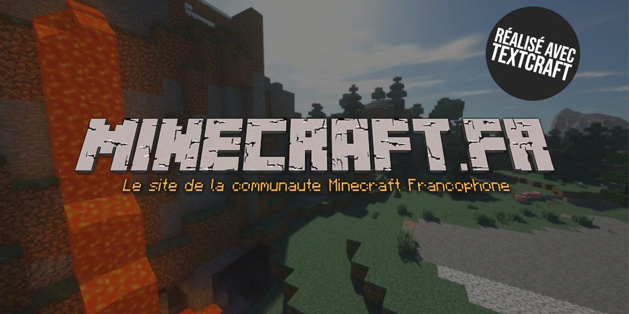 Textcraft – Votre texte avec la police d'écriture de Minecraft