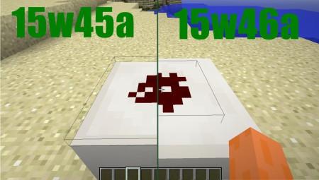 La hitboxe (les lignes noir autours de la redstone) qu'on peut facilement différencier.