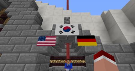 Clic gauche sur un drapeau pour le selectionner