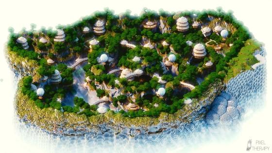 Ville de montagne de PixelTherapy