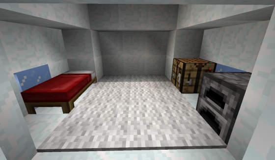L'intérieur de l'igloo.