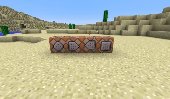 Les différentes faces des Command Block.