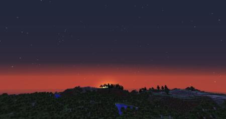 Quel magnifique coucher de soleil accentuant la beauté du paysage!