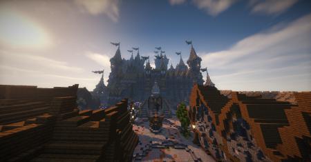 Le chateau vu de devant