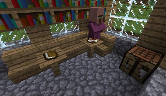 Des objets sur des tables.
