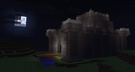 Un château, avec de la bonne vielle cobblestone