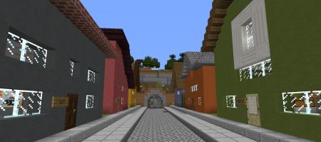 Le village dans lequel nous pouvons nous balader.