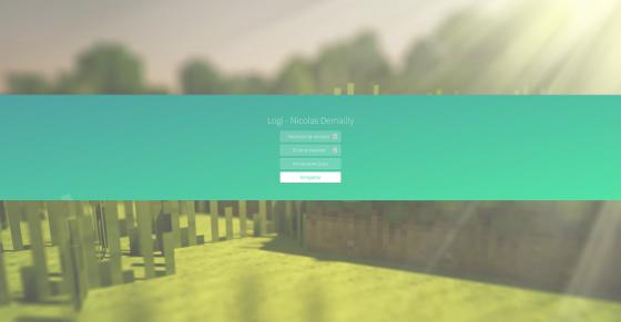 Page d'accueil permettant de définir les paramètres du logiciel