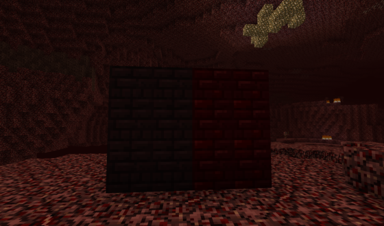 La Nether Brick et sa version rouge.