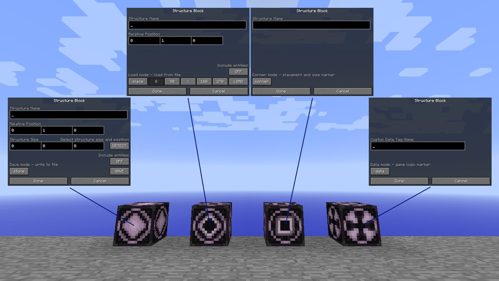[1.10] Interface des Structure Block