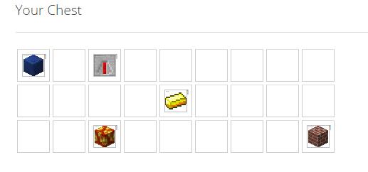 Exemple d'un coffre avec des items à l'intérieur lors de votre configuration.