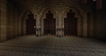 Même les prisons ont été intégrées dans la forteresse.