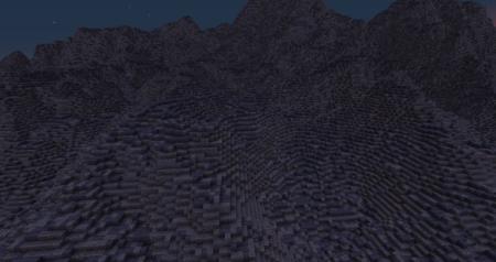 Après deux heures d'exploration, nous avons... Des montagnes !