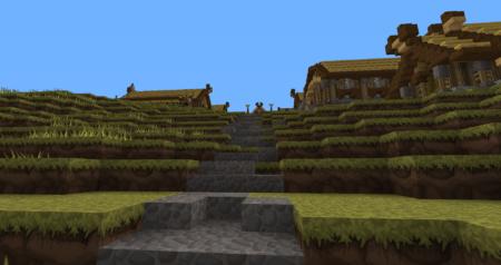 Les escaliers qui nous mèneront à la partie supérieure de la citée