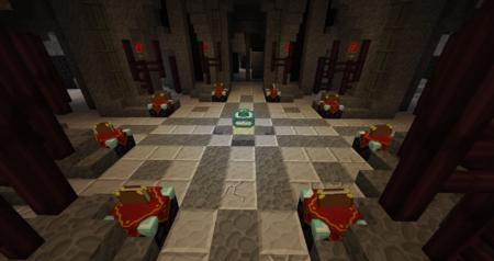 La salle d'incantation, qui est aussi l'endroit où Gandalf et Saroumane ce sont affrontés