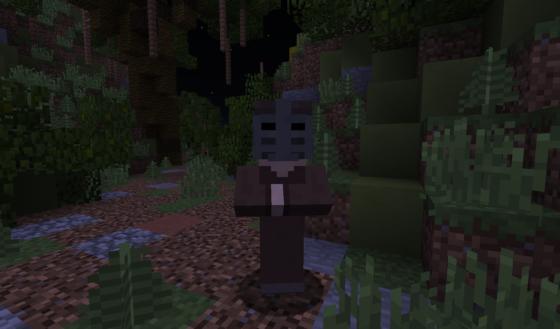 Les personnages : Des villageois avec des têtes customisées.