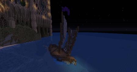 Un petit bateau qui nous attends pour nous mener au château.