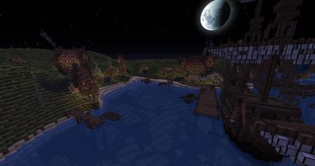 Le village portuaire.