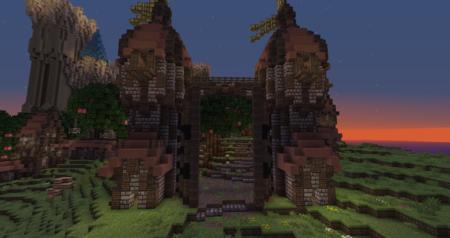 L'entrée des jardins du palais ?