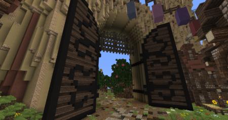 Les portes vuent de l'intérieur.