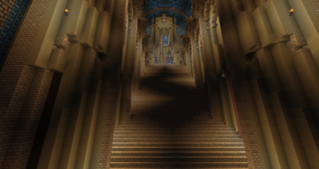 Des escaliers que je n'avais pas remarqué en arrivant.