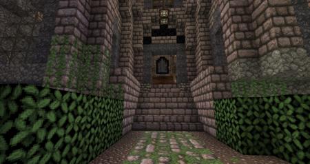 Enfin, l'entrée du château