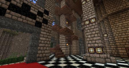Des escaliers étranges qui mènent à l'étage supérieur... Prenons plutôt le couloir principal.