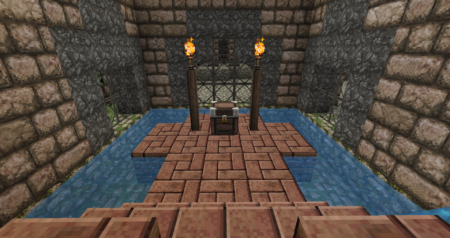 Un porte menant à un coffre vide, sous le trône...
